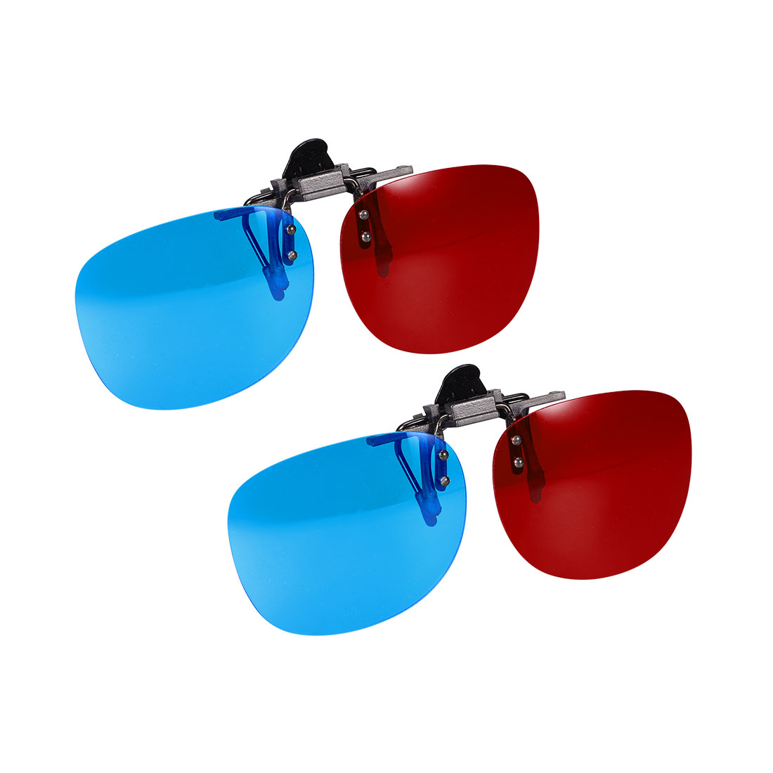Red-Blue Anaglyph 3D Clip-on Glasses for Movies 3D Print TV Anaglyph Photos 2pcs