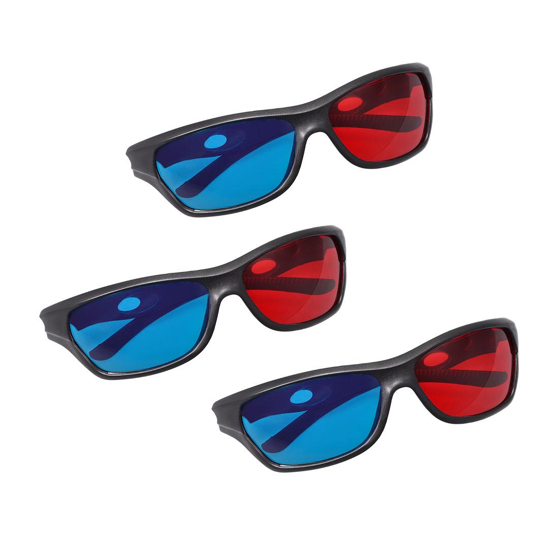 Red-Blue 3D Glasses 3D Visoin Glass for Movies 3D Print Magazines 3pcs