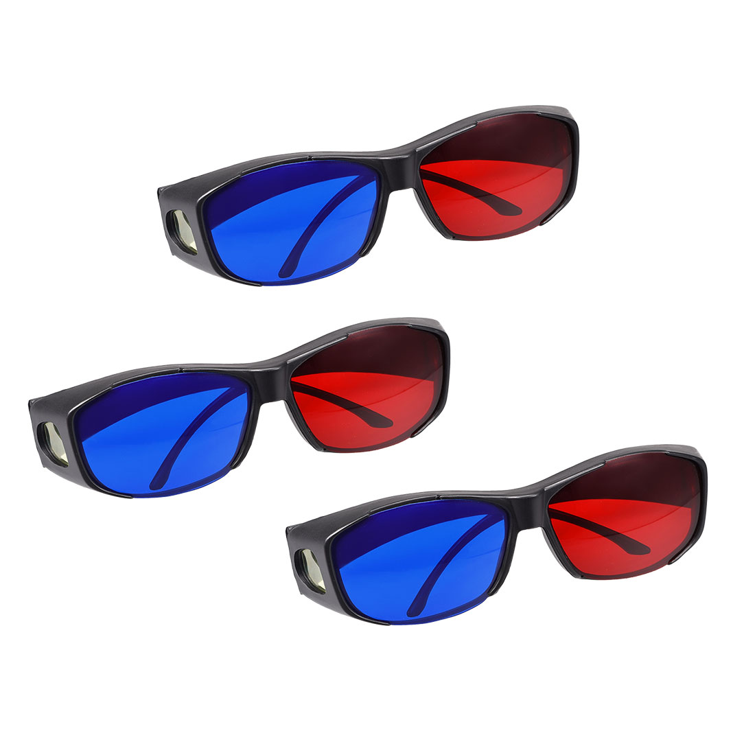 Red-Blue 3D Glasses 3D Visoin Glass for Movies Comic books Anaglyph Photos 3pcs
