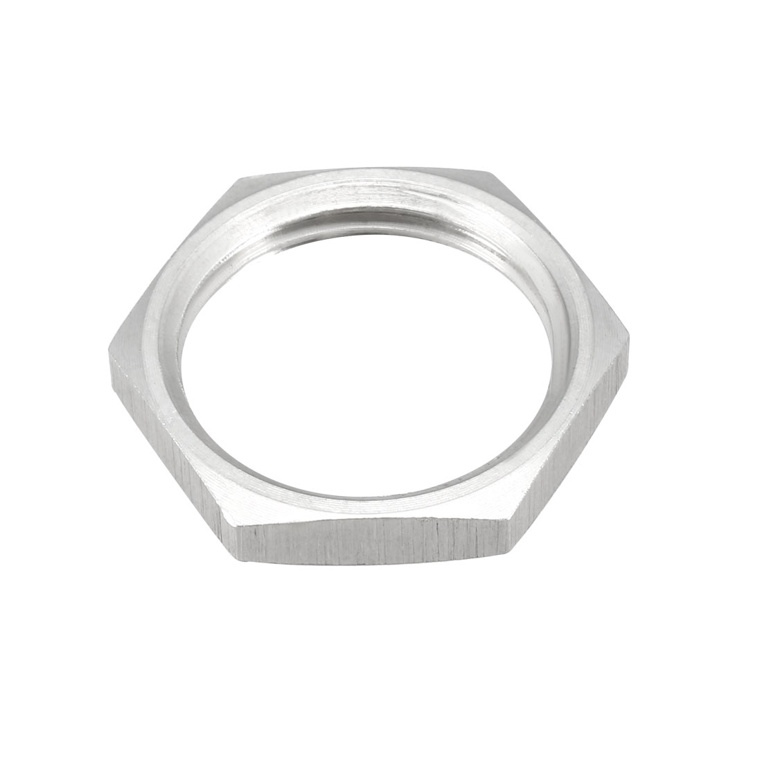 Pipe Fitting Hex Locknut SUS304 Stainless Steel G1/2 Inch Female Threaded