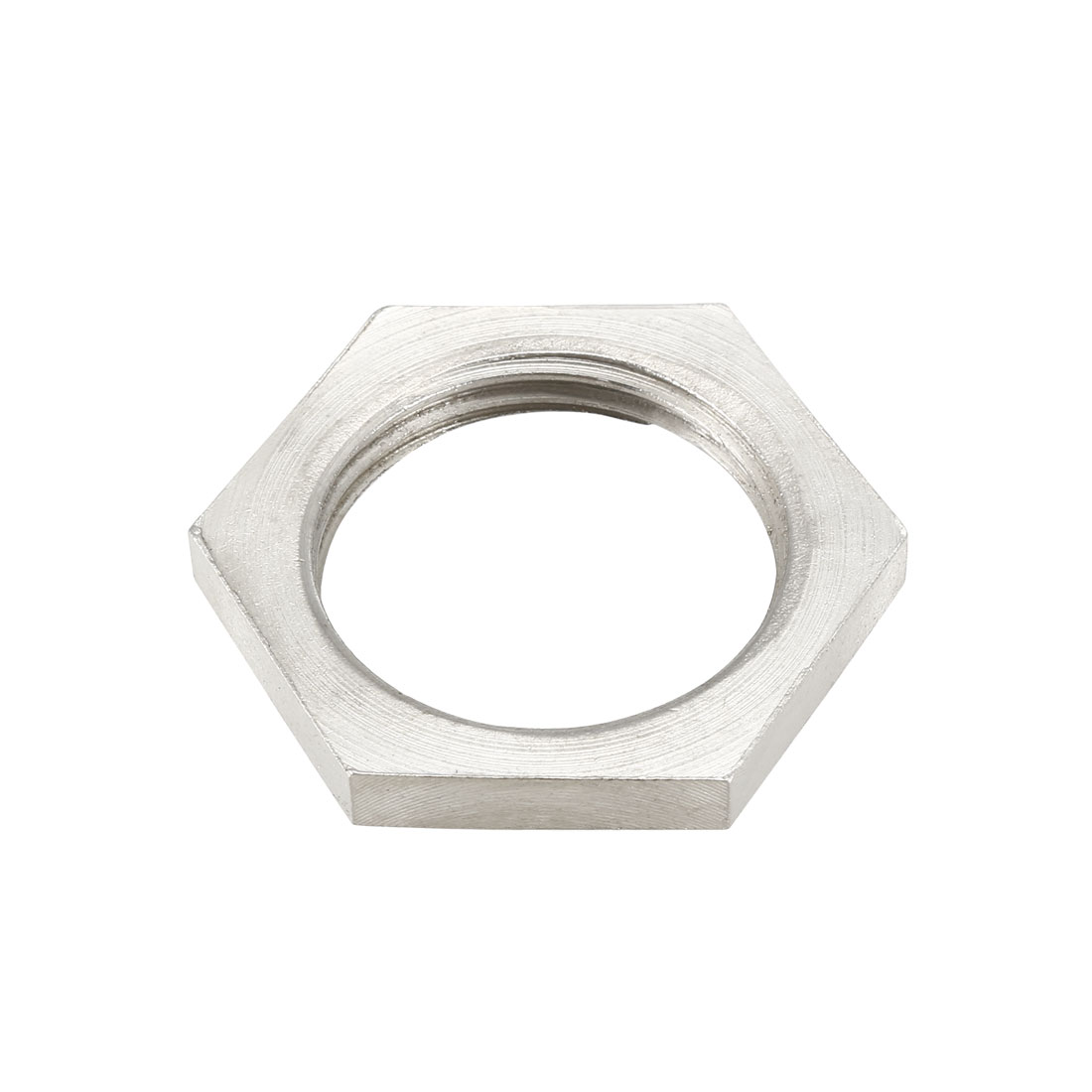 Pipe Fitting Hex Locknut SUS304 Stainless Steel G3/4 Inch Female Threaded, 3 Pcs