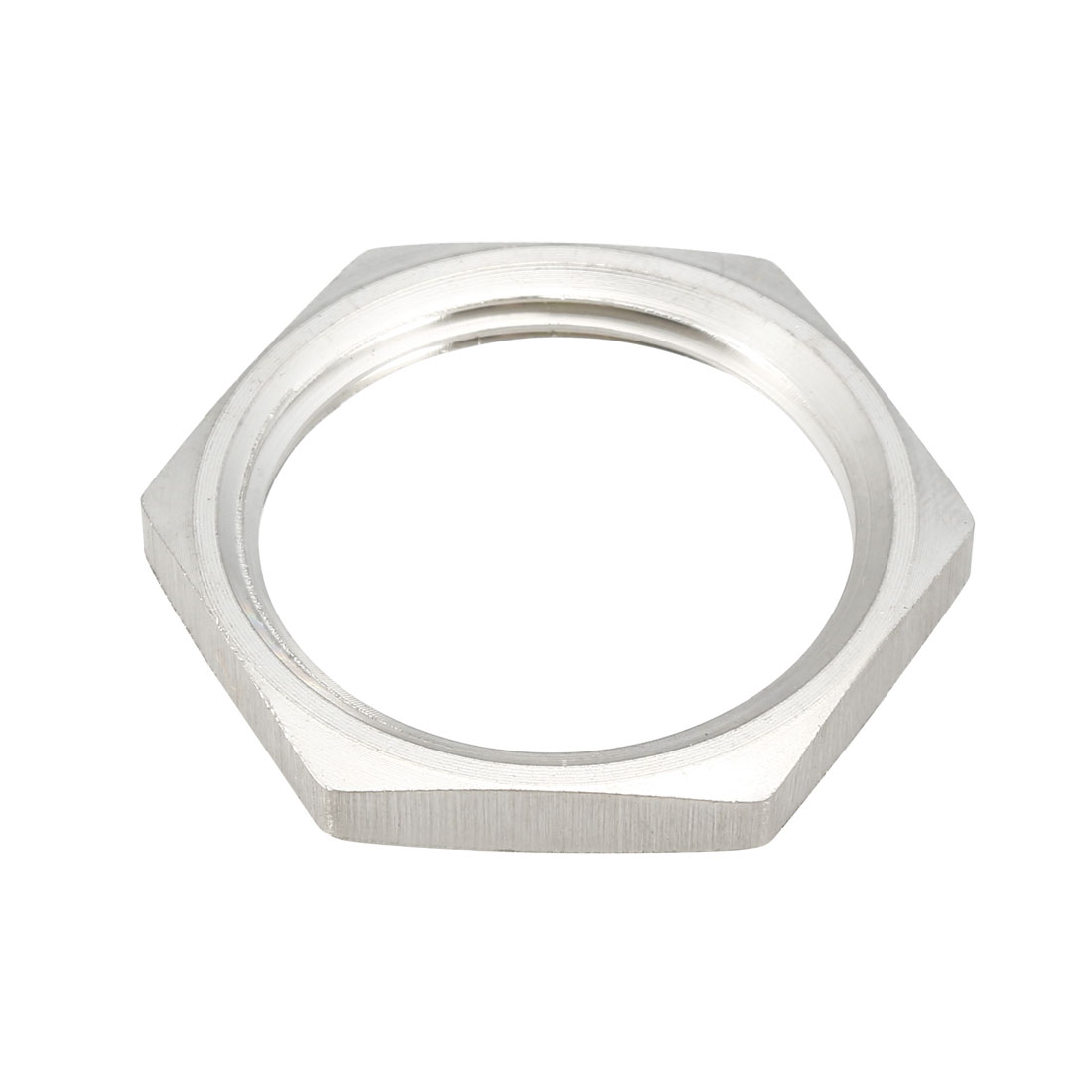 Pipe Fitting Hex Locknut SUS304 Stainless Steel G1 Inch Female Threaded