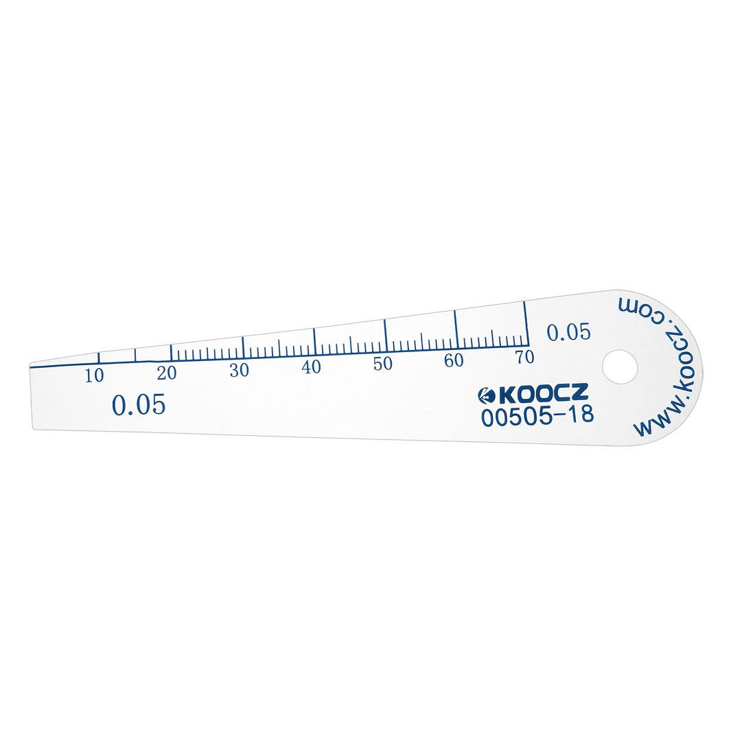 Metric Thickness Feeler Gauge 0.05mm Plastic Measuring Tool for Gap Width