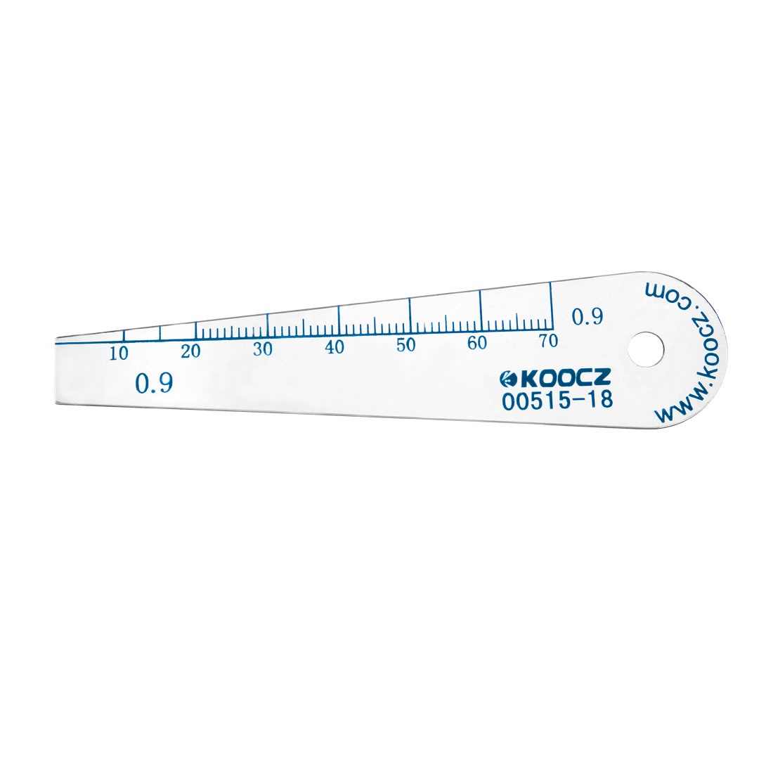 Metric Thickness Feeler Gauge 0.9mm Plastic Measuring Tool for Gap Width