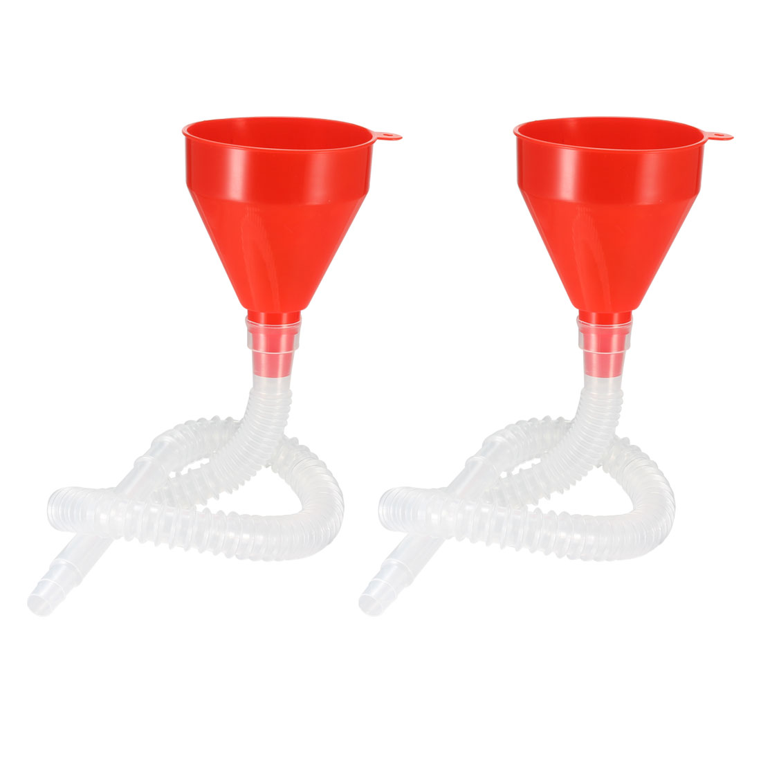 """Plastic Funnel 4"""" Feul Funnel with Tube for Petrol Engine Oil Water Fuel 2pcs"""