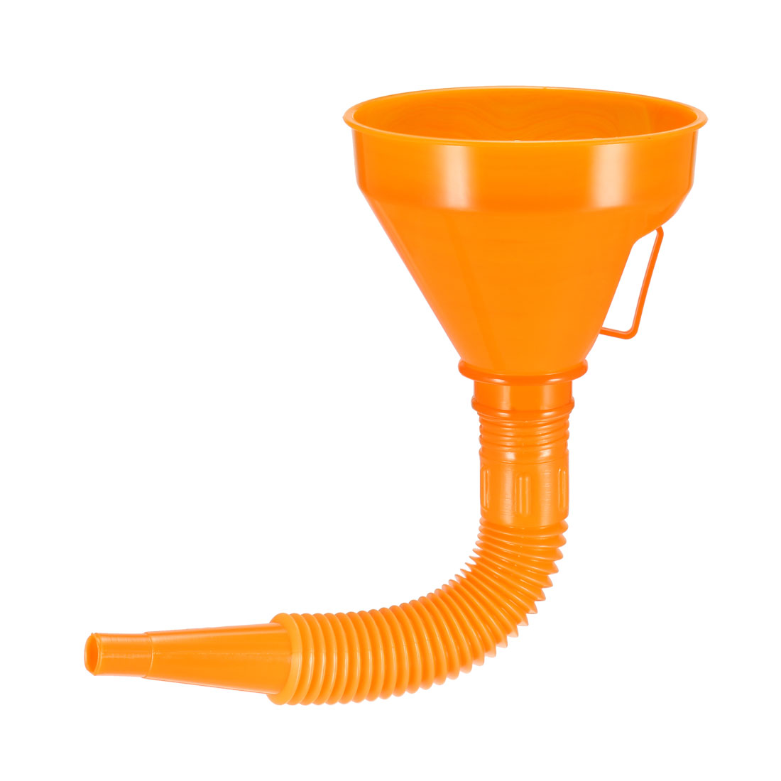 Filter Funnel 5 inch Plastic Feul Funnel with Tube Orange for Oil Water Fuel