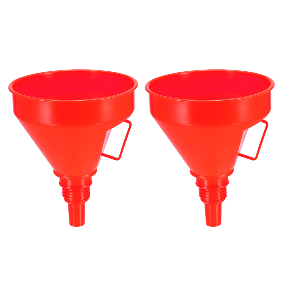 """Filter Funnel 5"""" Plastic Feul Funnel Red for Petrol Engine Oil Water Fuel 2pcs"""