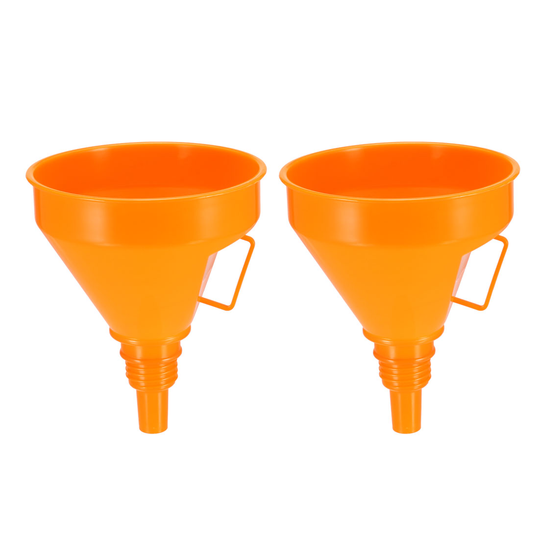 "Filter Funnel 5"" Plastic Feul Funnel Orange for Engine Oil Water Fuel 2pcs"