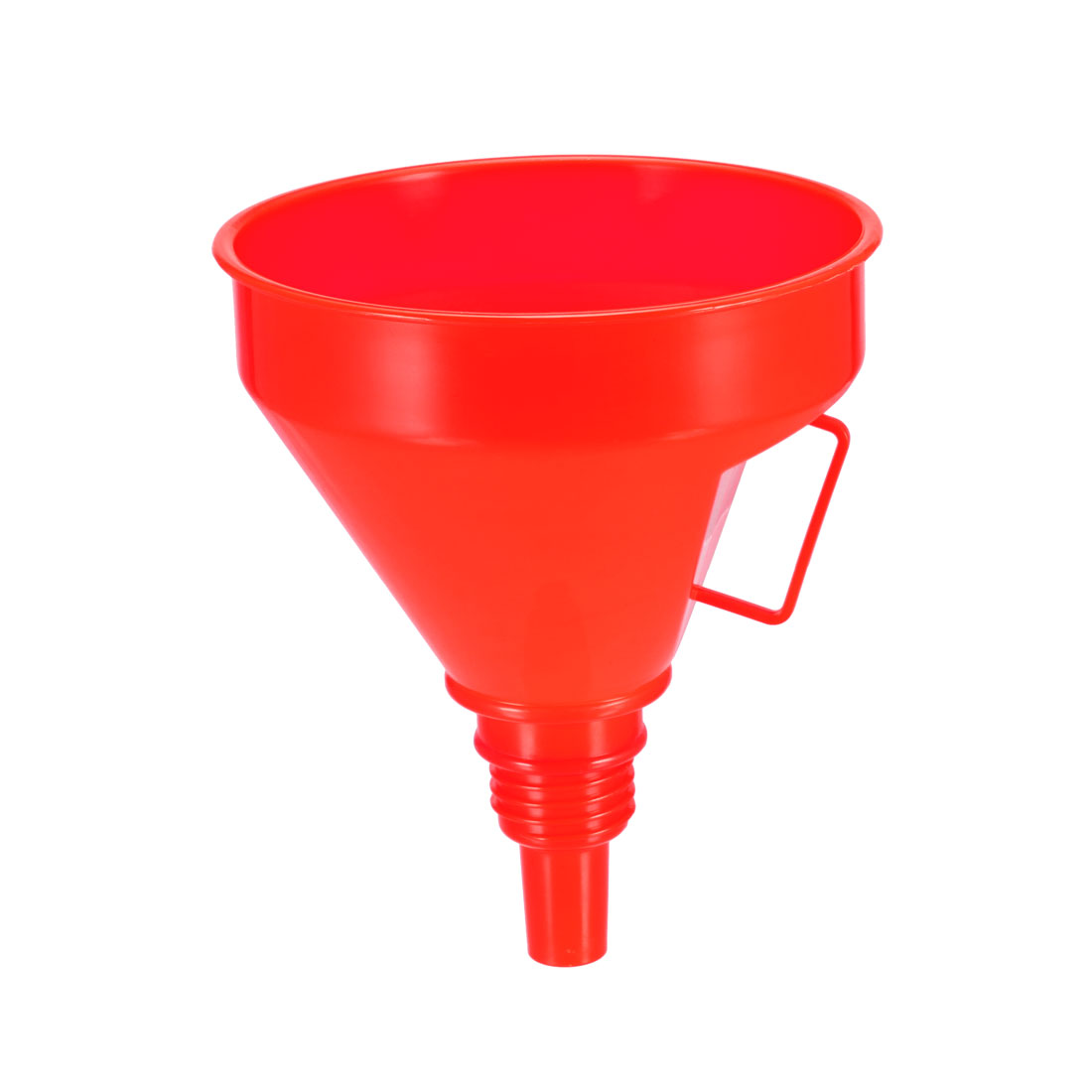 Filter Funnel 5.3 inch Plastic Feul Funnel Red for Petrol Engine Oil Water Fuel