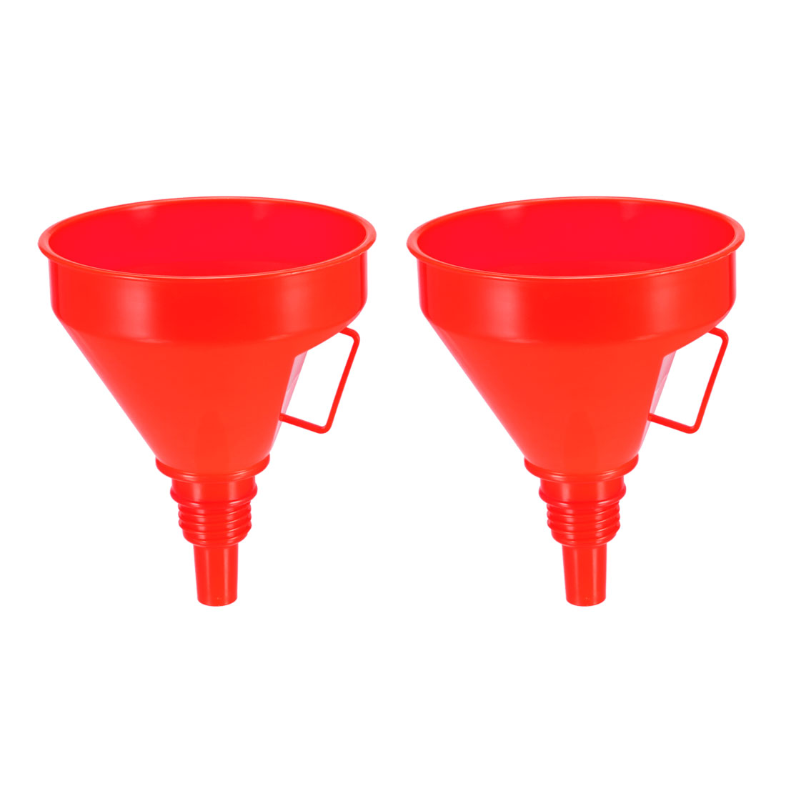 "Filter Funnel 6"" Plastic Red Feul Funnel for Petrol Engine Oil Water Fuel 2pcs"