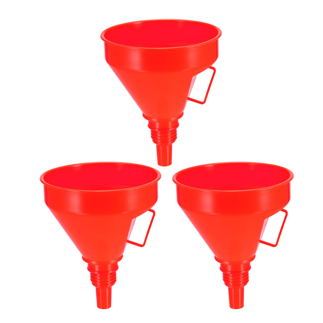 "Filter Funnel 6"" Plastic Red Feul Funnel for Petrol Engine Oil Water Fuel 3pcs"