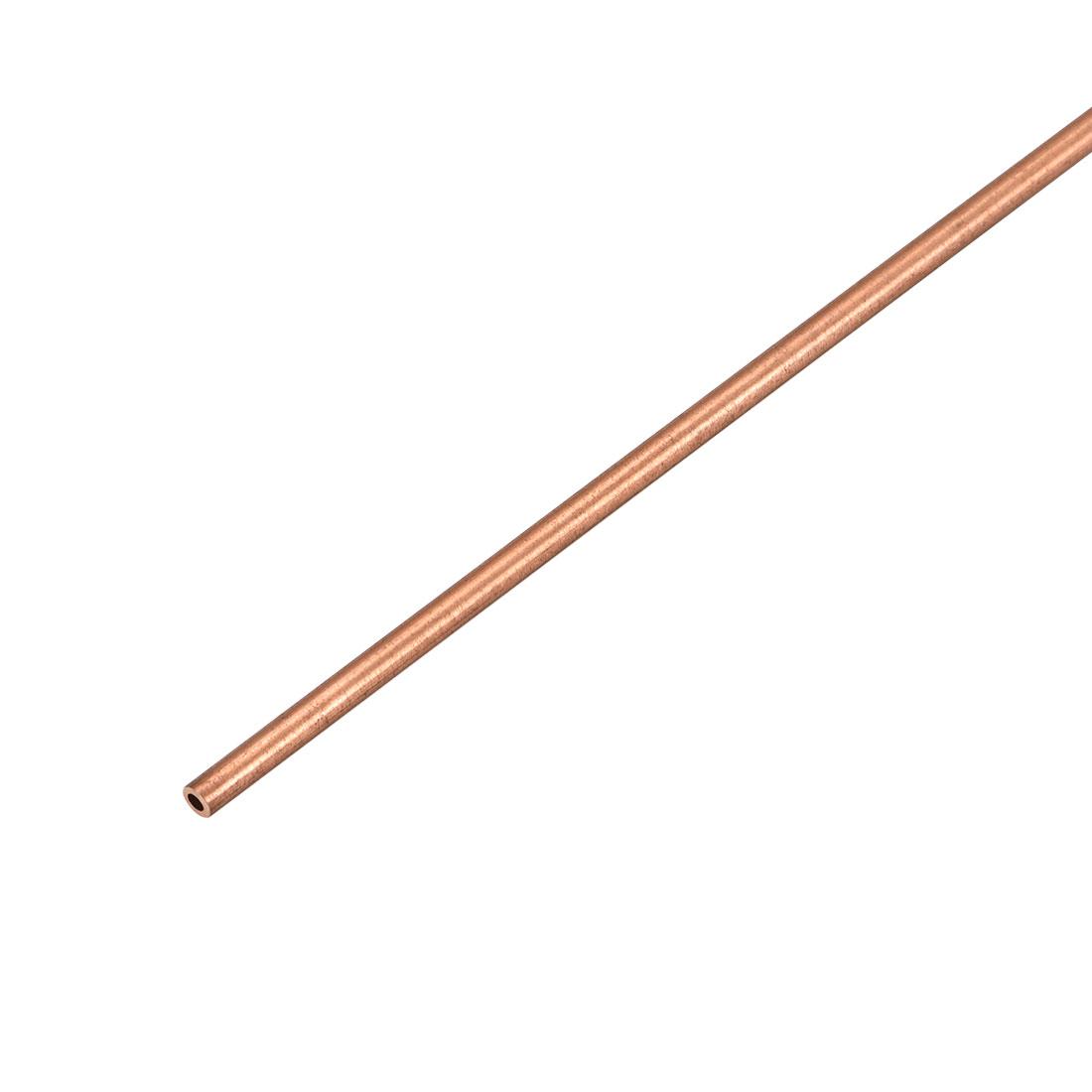 2mm Outside Diameter x 1mm Inside Diameter 500mm Copper Round Tube Pipe