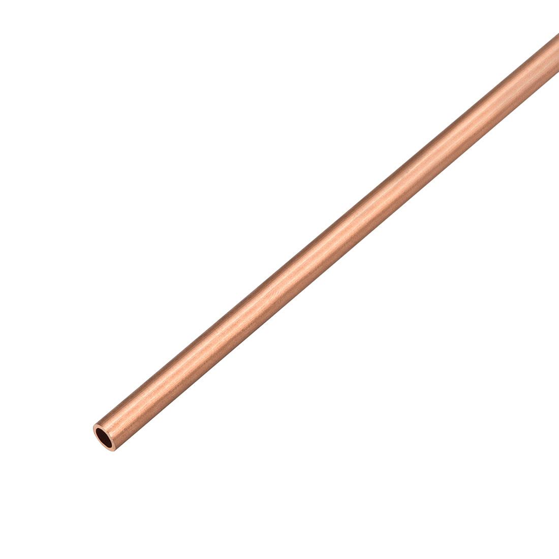 5mm Outside Diameter x 3mm Inside Diameter 500mm Copper Round Tube Pipe