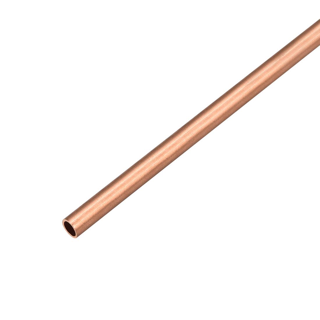 6mm Outside Diameter x 5mm Inside Diameter 500mm Copper Round Tube Pipe