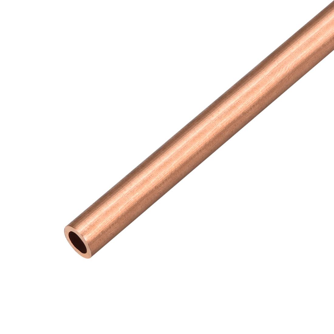 7mm Outside Diameter x 4mm Inside Diameter 500mm Copper Round Tube Pipe