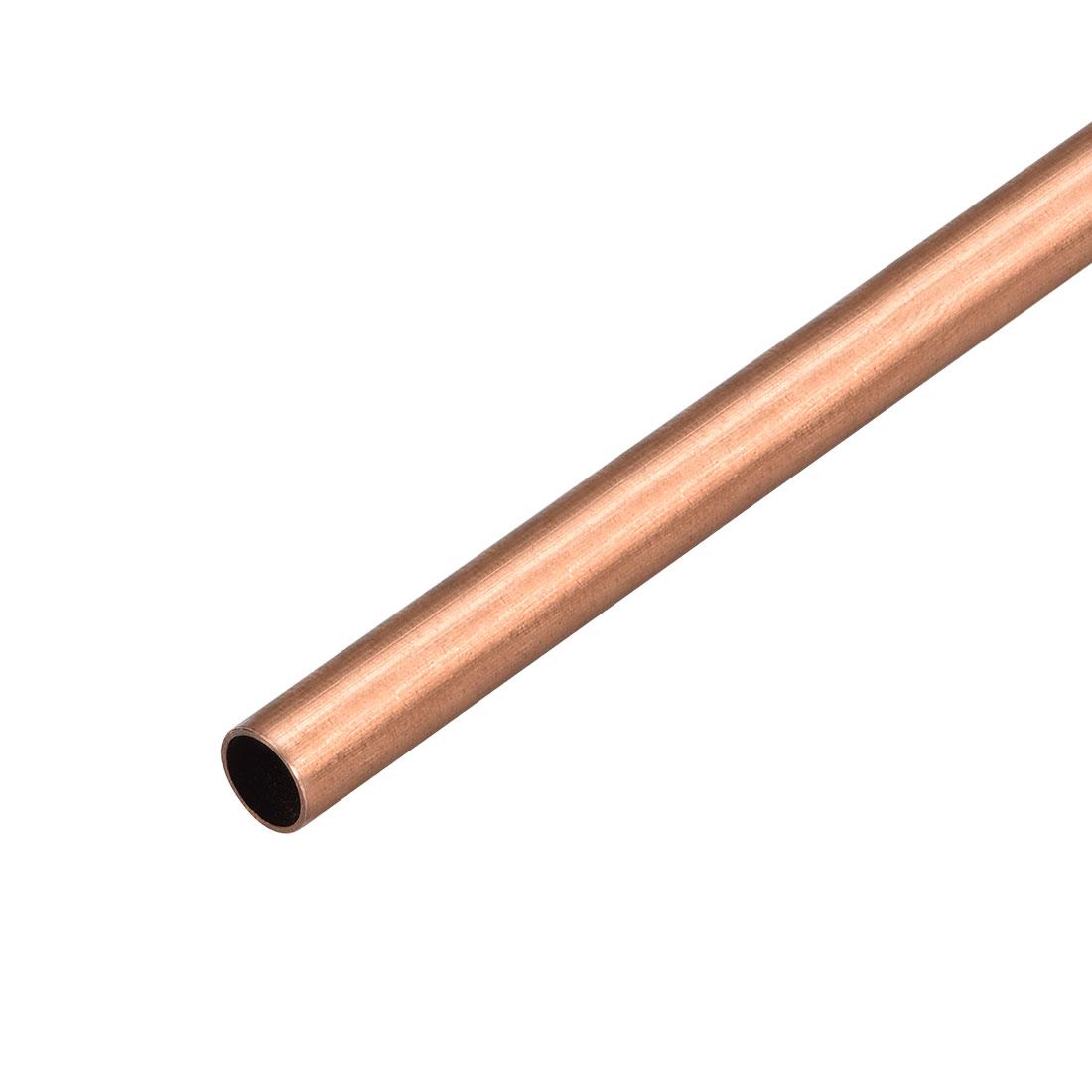 8mm Outside Diameter x 7mm Inside Diameter 500mm Copper Round Tube Pipe