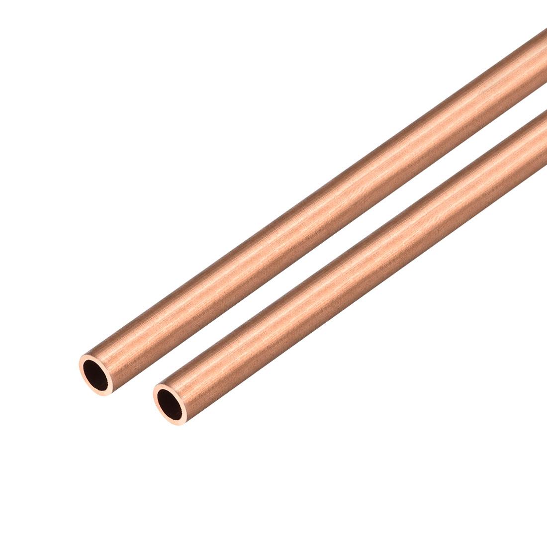 2Pcs 8mm Outside Diameter x 6mm Inside Diameter 500mm Copper Round Tube Pipe