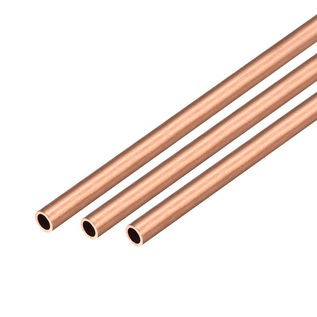 3Pcs 8mm Outside Diameter x 6mm Inside Diameter 500mm Copper Round Tube Pipe