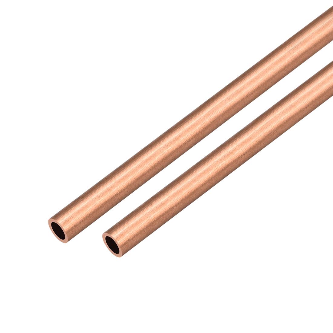 2Pcs 9mm Outside Diameter x 6mm Inside Diameter 500mm Copper Round Tube Pipe