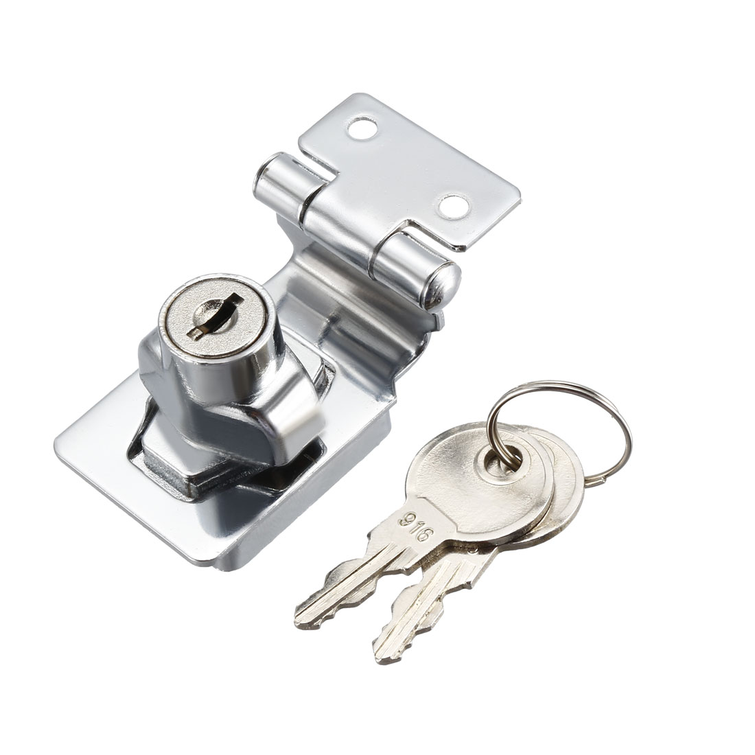 Keyed Hasp Lock 54mm Twist Knob Keyed Locking Hasp for Door Cabinet