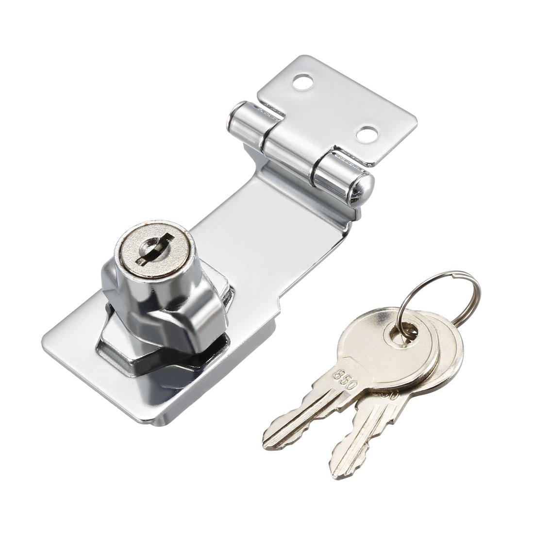Keyed Hasp Lock 68mm Twist Knob Keyed Locking Hasp for Door Cabinet