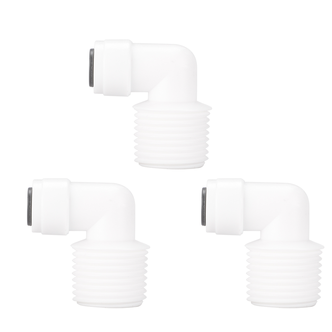 1/2 Inch BSP Male to 1/4 Inch OD Elbow Quick Connect Water Tube Fittings 3pcs