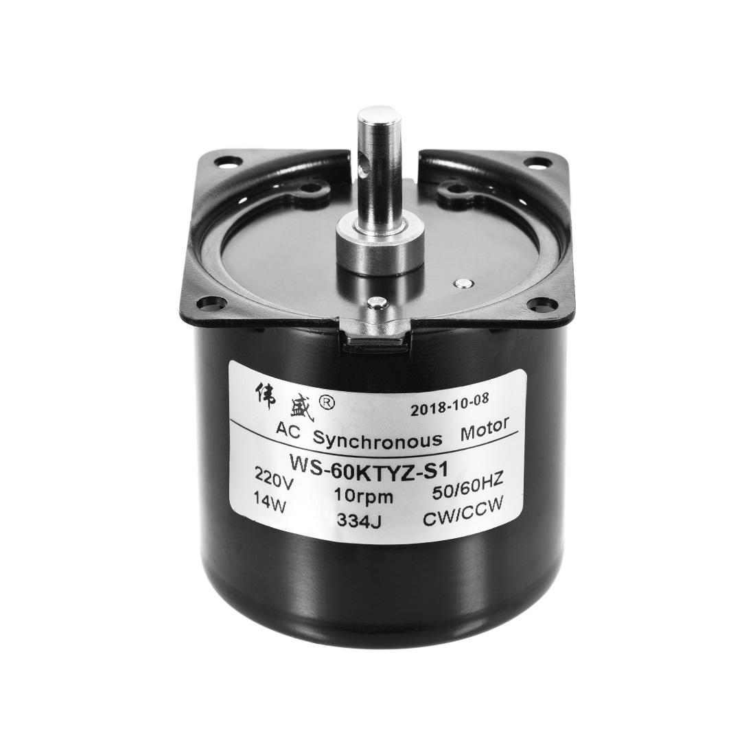 WS-60KTYZ-S1 AC Synchronous Gear Motor 220V 10RPM 14W CW/CCW