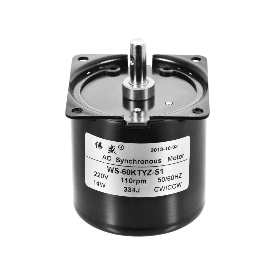 WS-60KTYZ-S1 AC Synchronous Gear Motor 220V 110RPM 14W CW/CCW