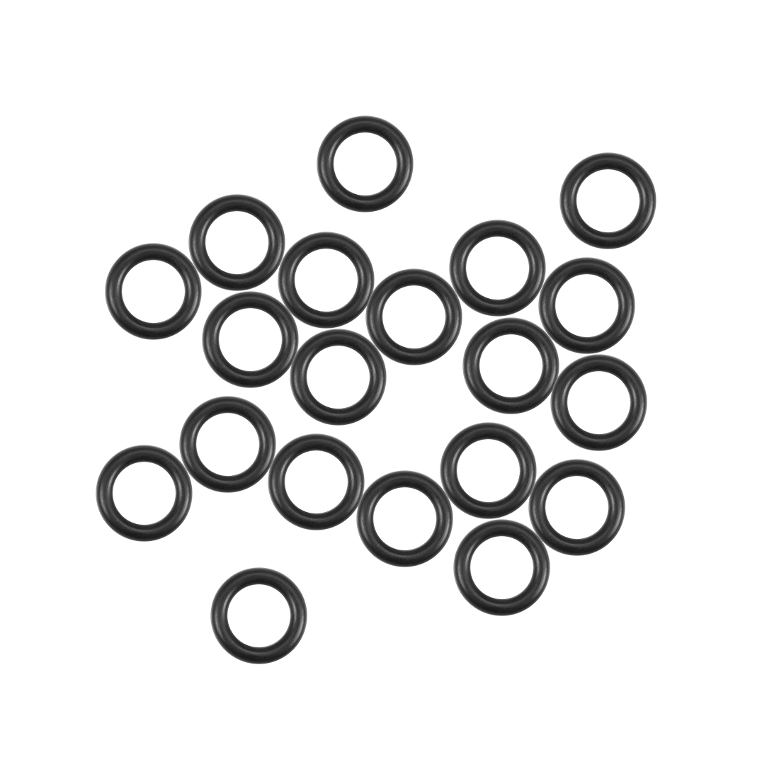 O-Rings Nitrile Rubber 6mm x 9.6mm x 1.8mm Round Seal Gasket 20 Pcs