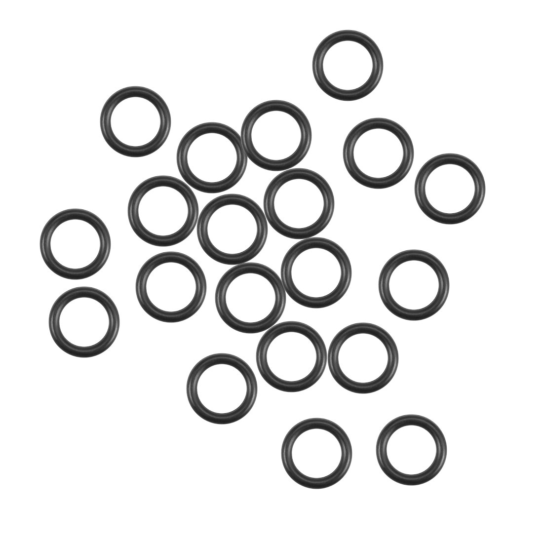 O-Rings Nitrile Rubber 7.8mm x 11.4mm x 1.8mm Round Seal Gasket 20 Pcs