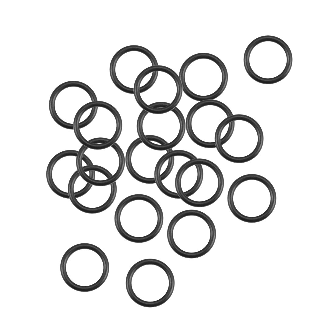O-Rings Nitrile Rubber 10.8mm x 14.4mm x 1.8mm Round Seal Gasket 20Pcs