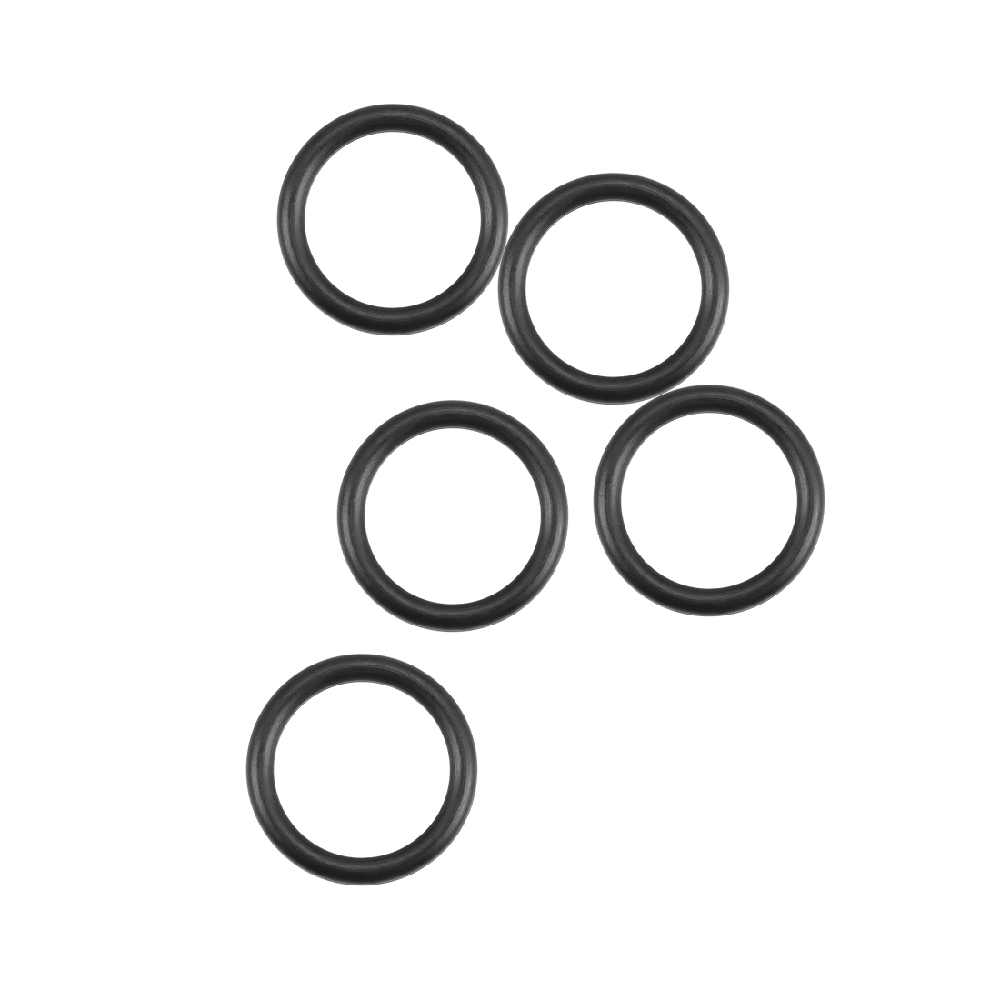 O-Rings Nitrile Rubber 10.8mm x 14.4mm x 1.8mm Round Seal Gasket 5Pcs