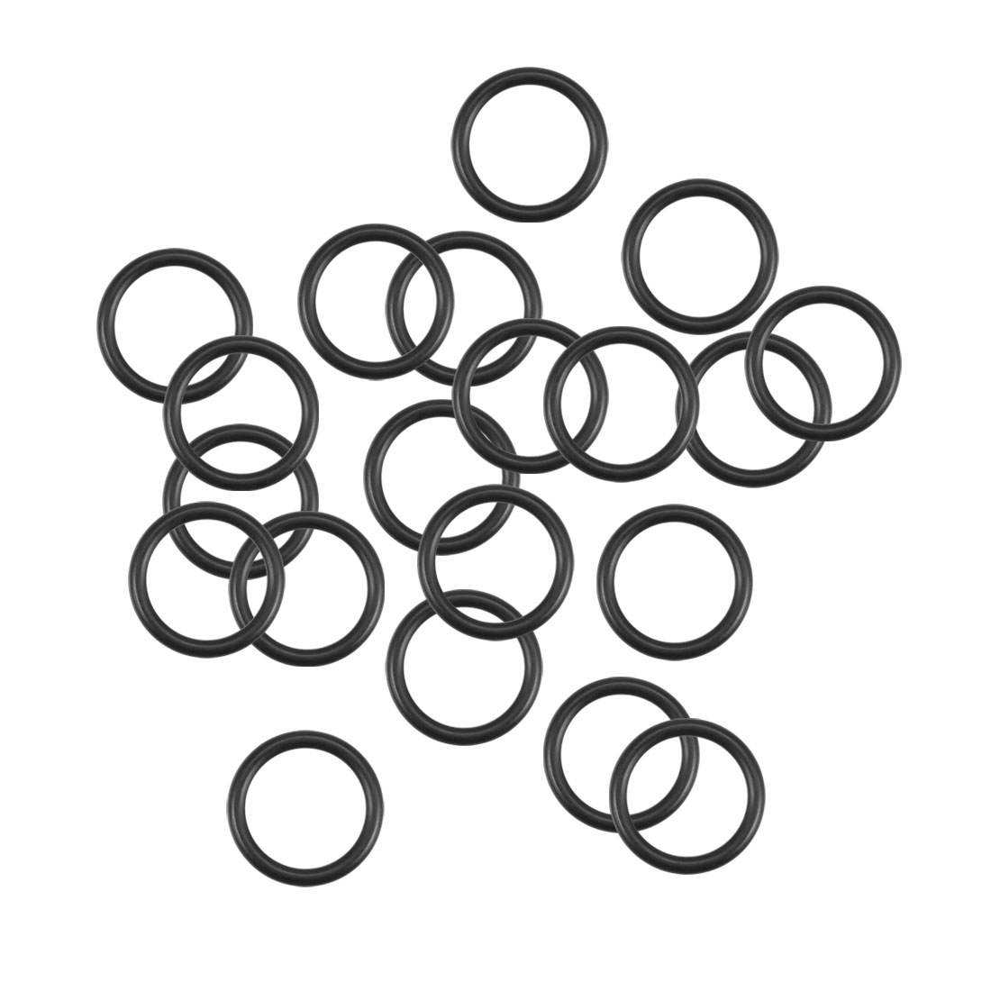 O-Rings Nitrile Rubber 11.5mm x 15.1mm x 1.8mm Round Seal Gasket 20Pcs