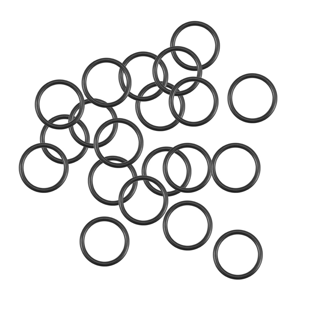 O-Rings Nitrile Rubber 13.5mm x 17.1mm x 1.8mm Round Seal Gasket 20Pcs