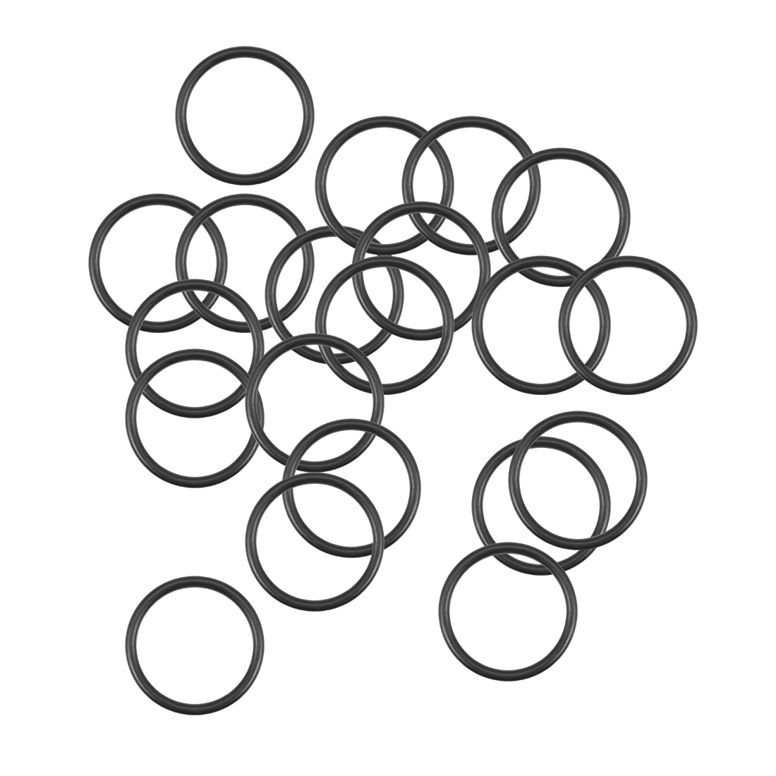 O-Rings Nitrile Rubber 15.6mm x 19.2mm x 1.8mm Round Seal Gasket 20Pcs