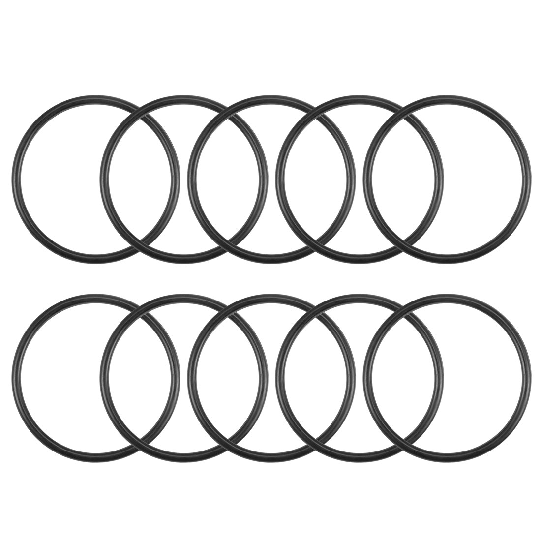 O-Rings Nitrile Rubber 25.6mm x 29.2mm x 1.8mm Round Seal Gasket 10Pcs