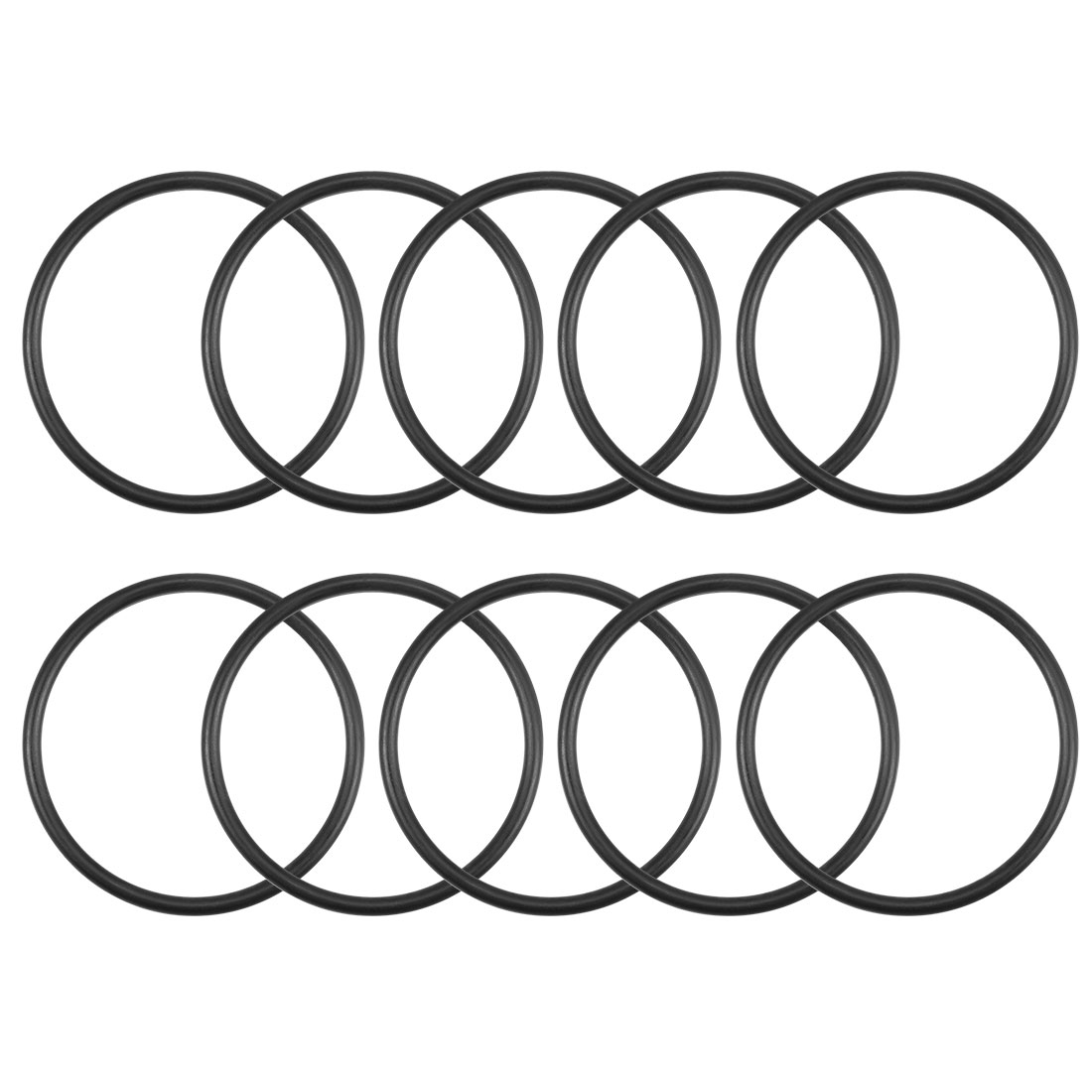 O-Rings Nitrile Rubber 27mm x 30.6mm x 1.8mm Round Seal Gasket 10Pcs