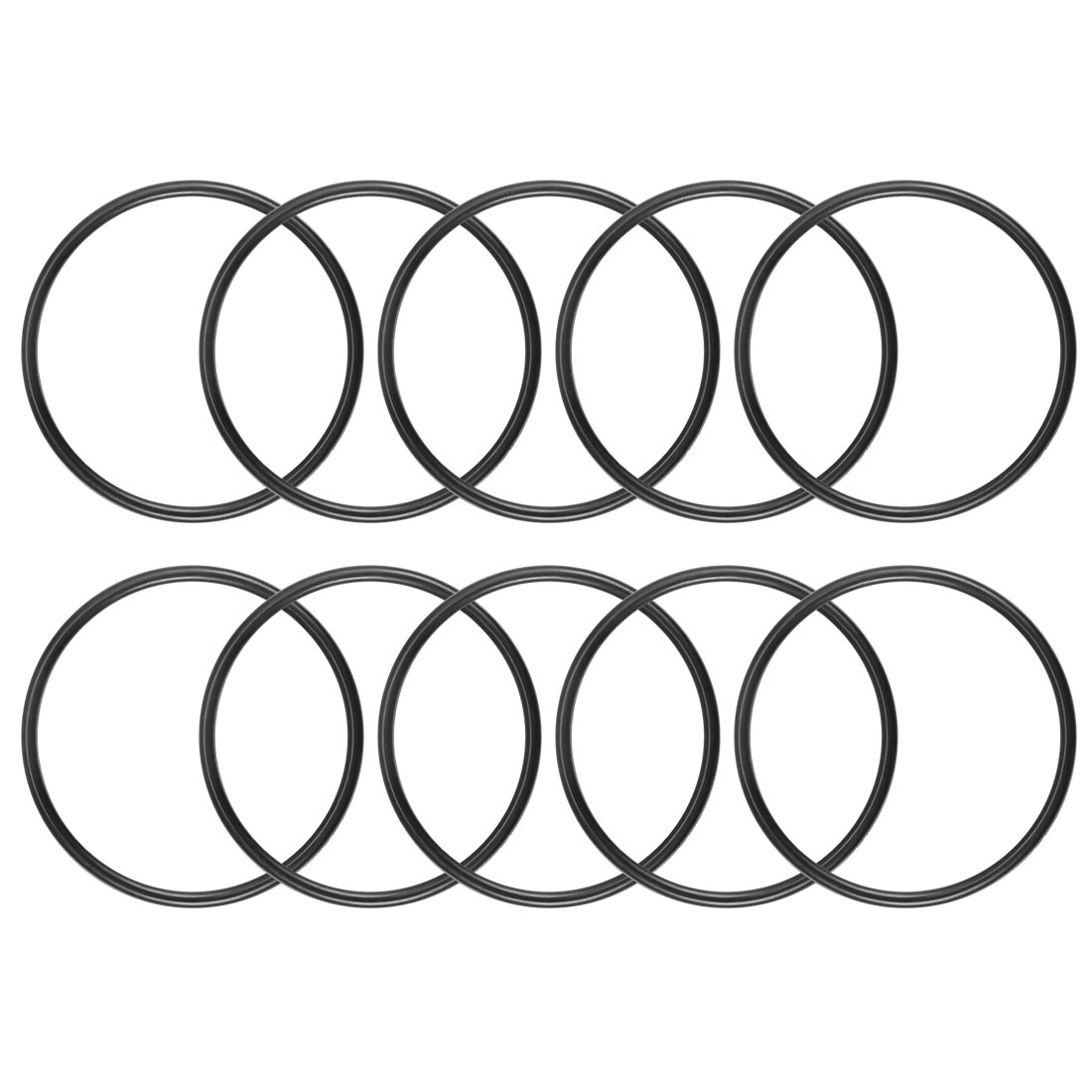 O-Rings Nitrile Rubber 30mm x 33.6mm x 1.8mm Round Seal Gasket 10Pcs