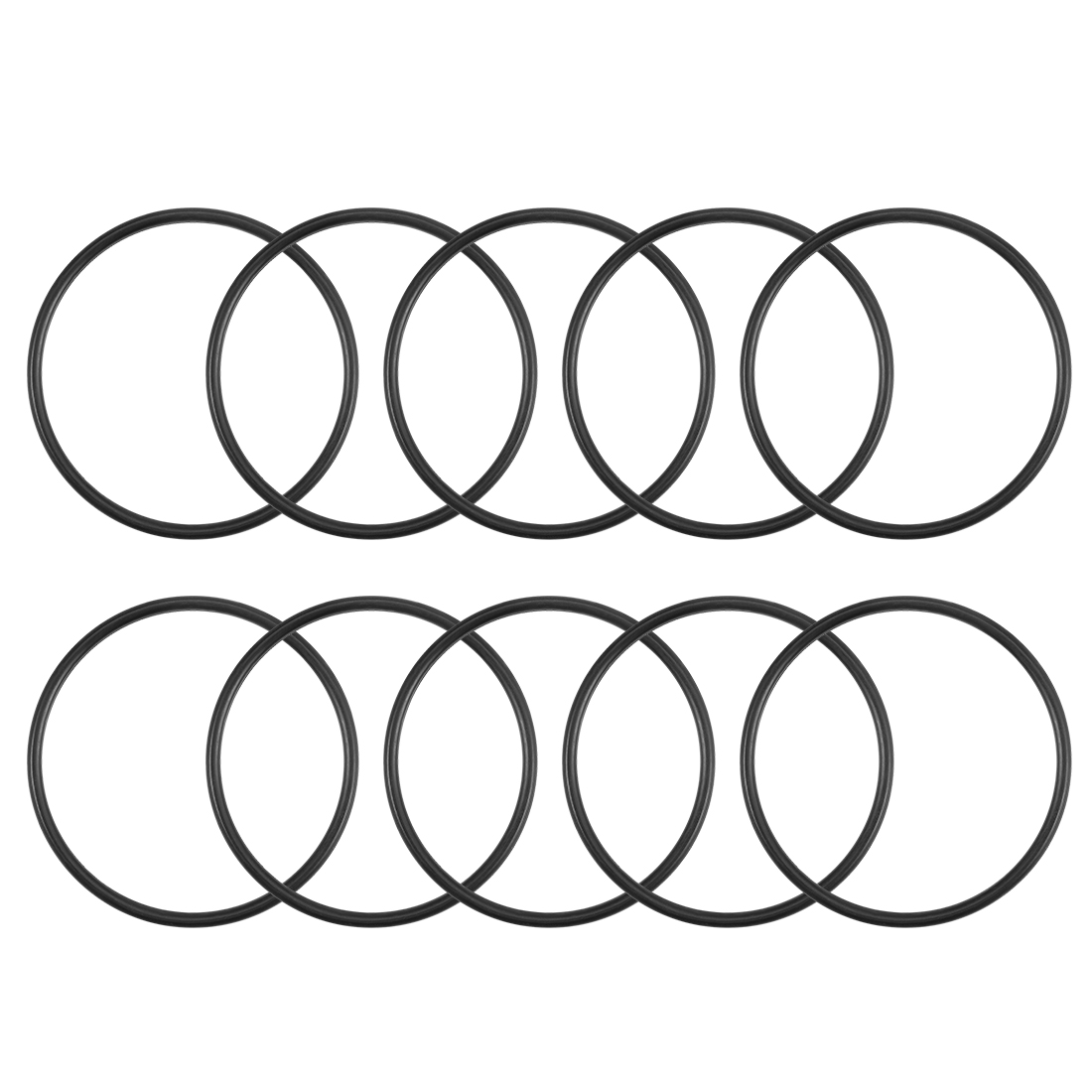 O-Rings Nitrile Rubber 35mm x 38.6mm x 1.8mm Round Seal Gasket 10Pcs