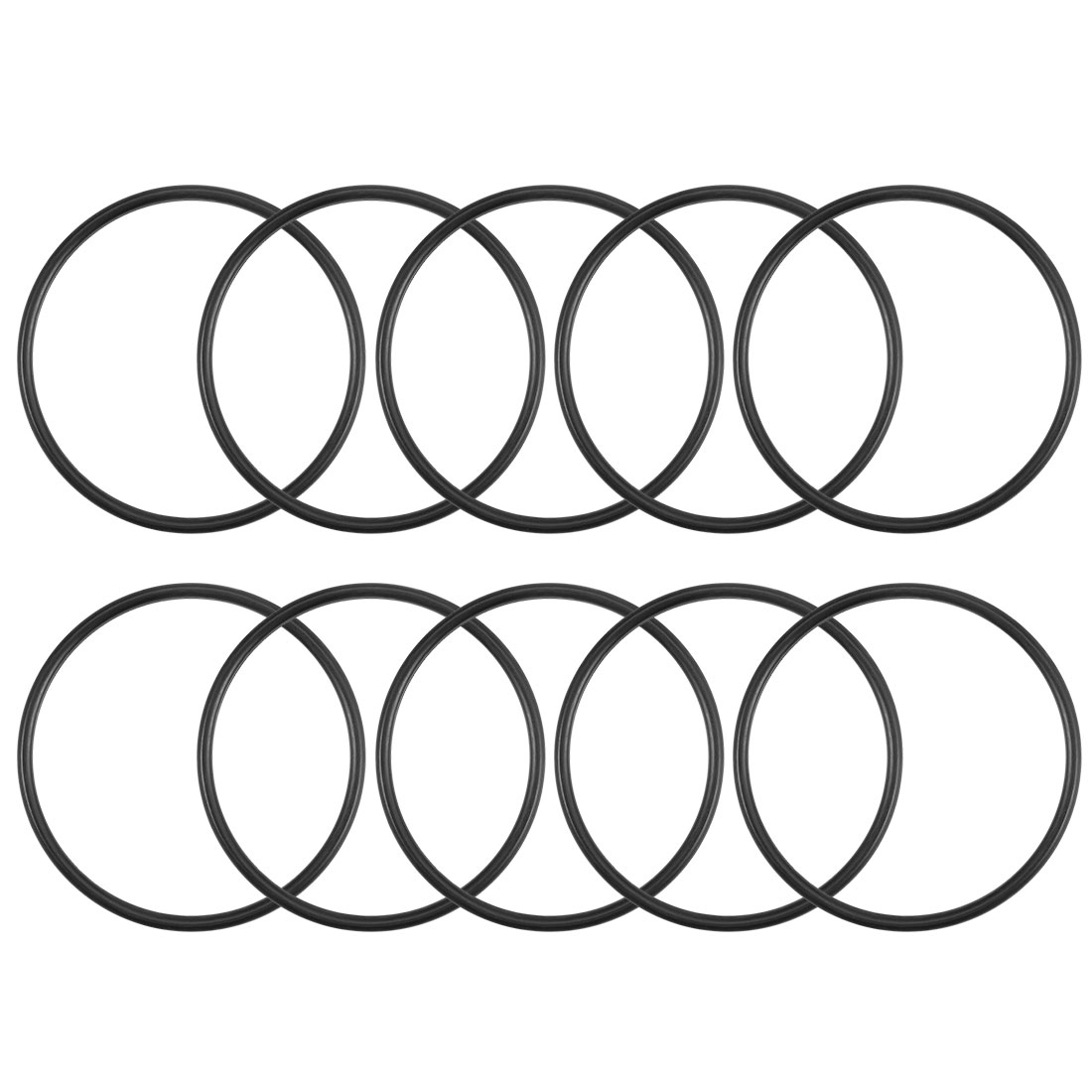 O-Rings Nitrile Rubber 38.7mm x 42.3mm x 1.8mm Round Seal Gasket 10Pcs
