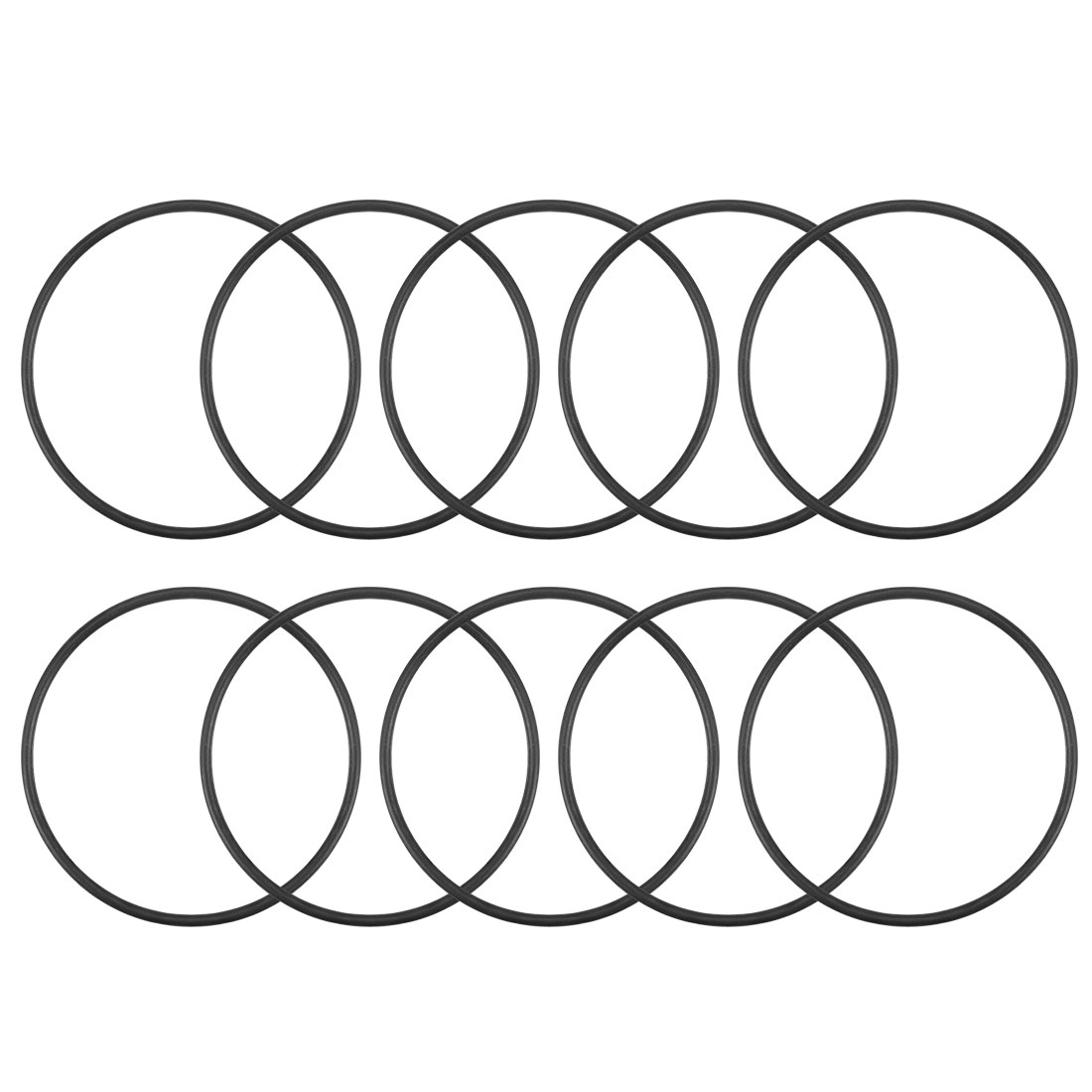 O-Rings Nitrile Rubber 43.7mm x 47.3mm x 1.8mm Round Seal Gasket 10Pcs