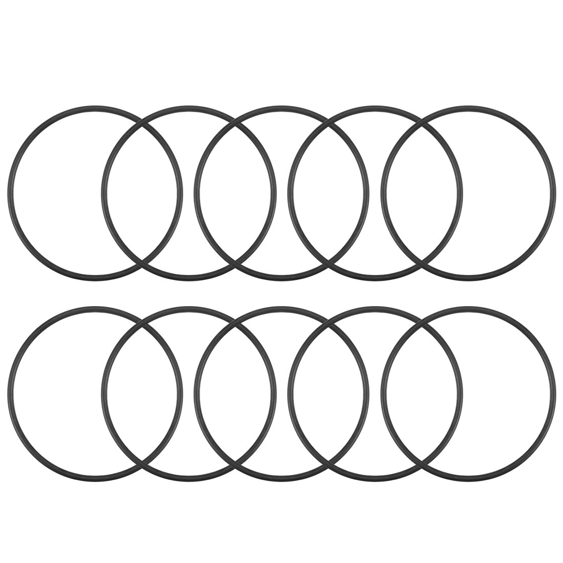 O-Rings Nitrile Rubber 45mm x 48.6mm x 1.8mm Round Seal Gasket 10Pcs