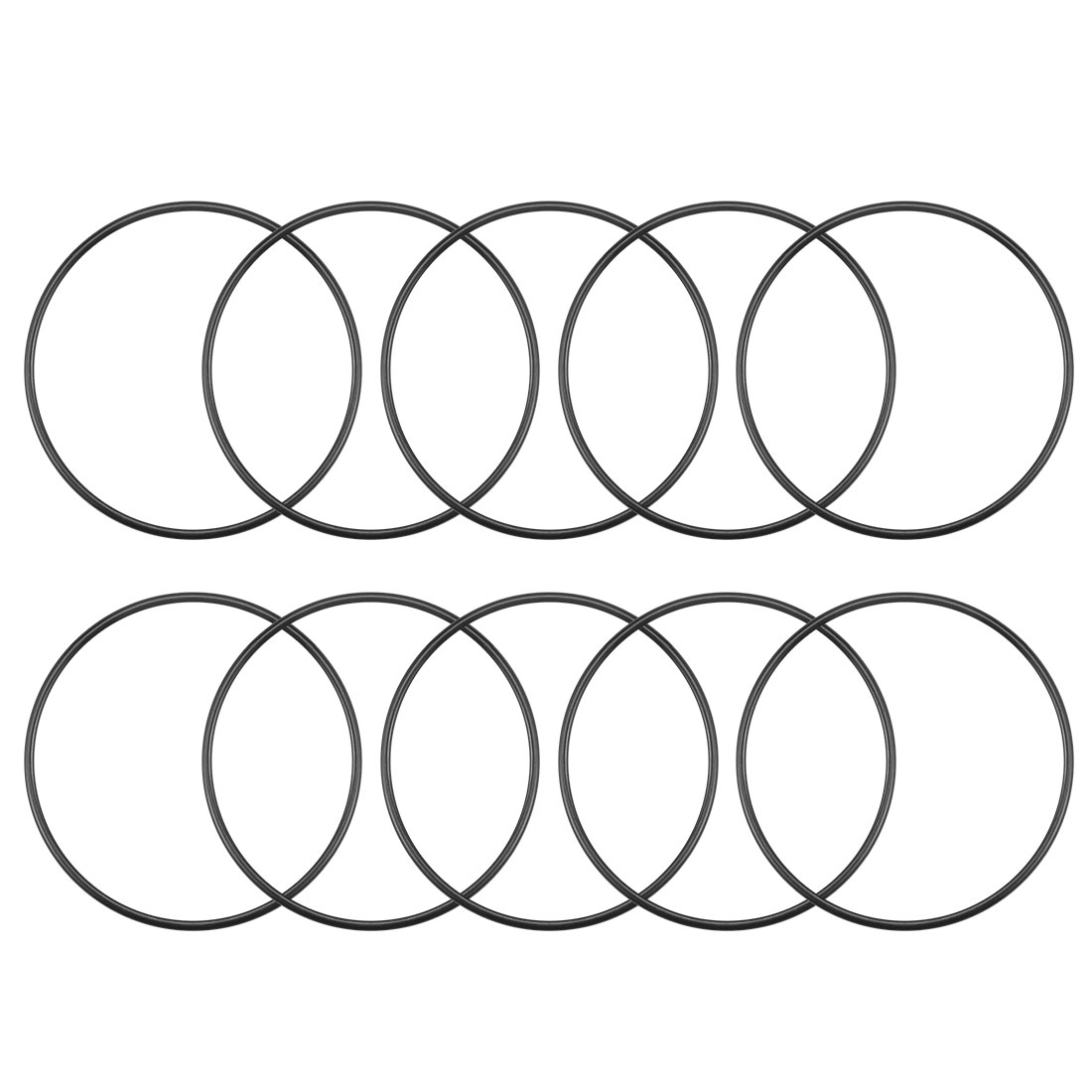 O-Rings Nitrile Rubber 48.7mm x 52.3mm x 1.8mm Round Seal Gasket 10Pcs