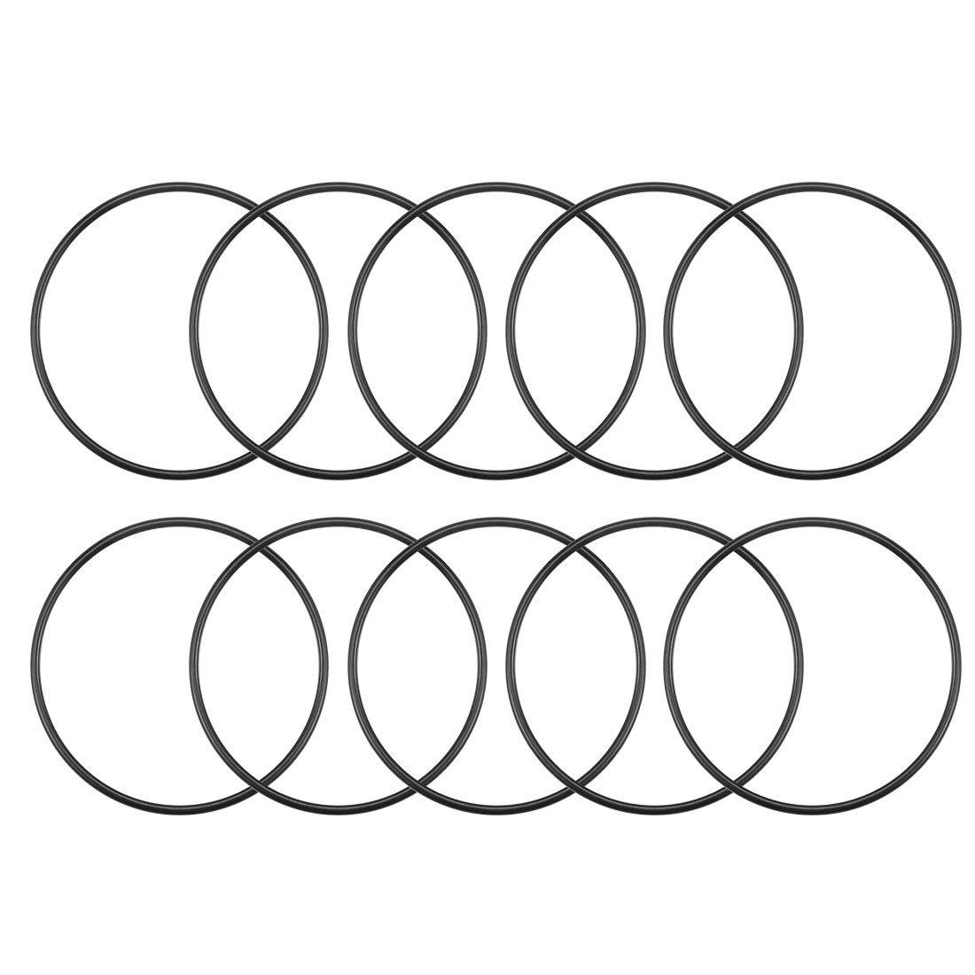 O-Rings Nitrile Rubber 50mm x 53.6mm x 1.8mm Round Seal Gasket 10Pcs