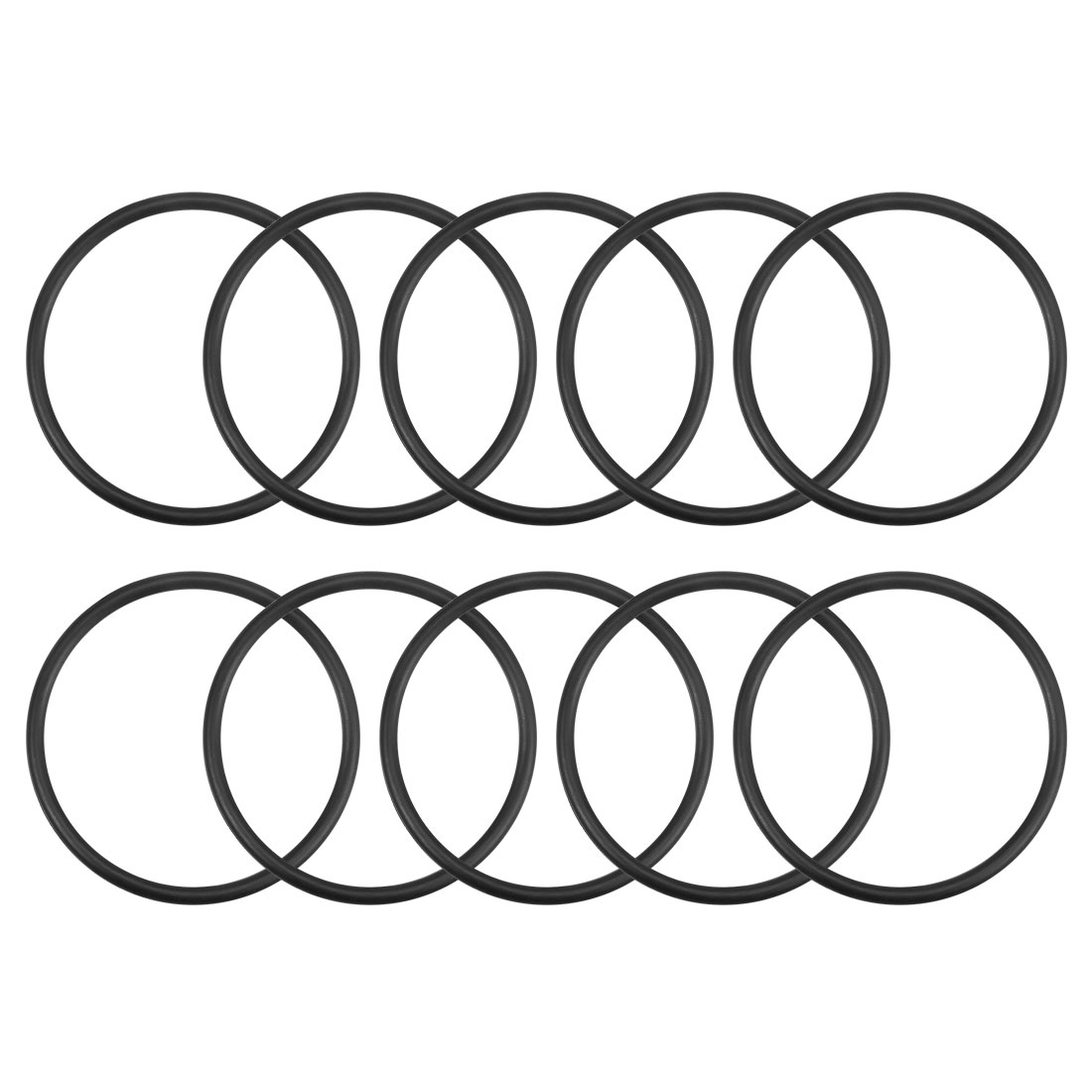 O-Rings Nitrile Rubber 60mm x 68mm x 4mm Round Seal Gasket 10Pcs