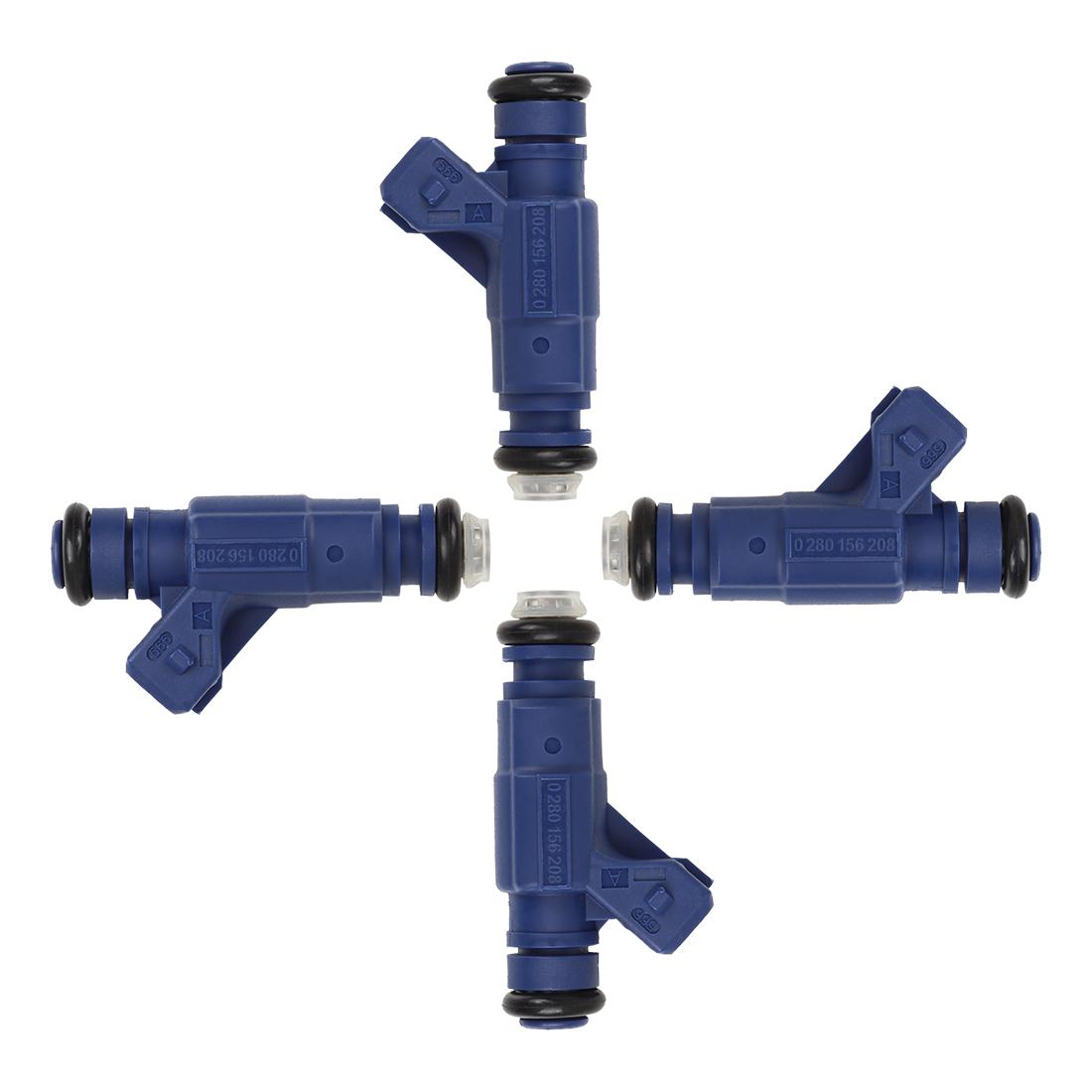 4pcs Fuel Injector 0280156208 for Polaris Sportsman EFI 700 800 RZR Ranger