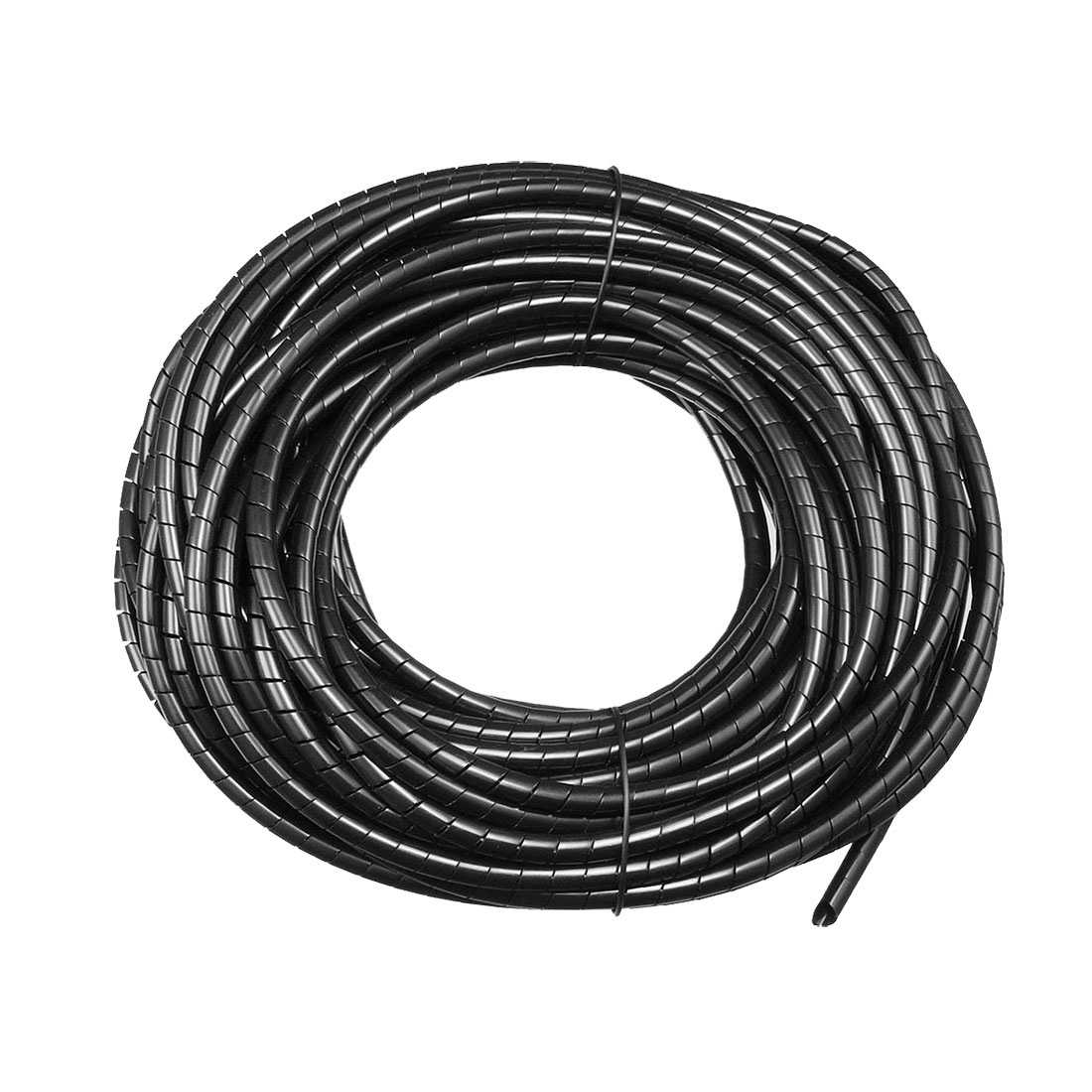 2.8mm Flexible Spiral Tube Cable Wire Wrap Manage Cord 22M Length Black