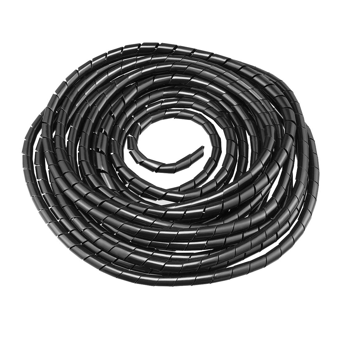 6mm Flexible Spiral Tube Cable Wire Wrap Computer Manage Cord 14M Black