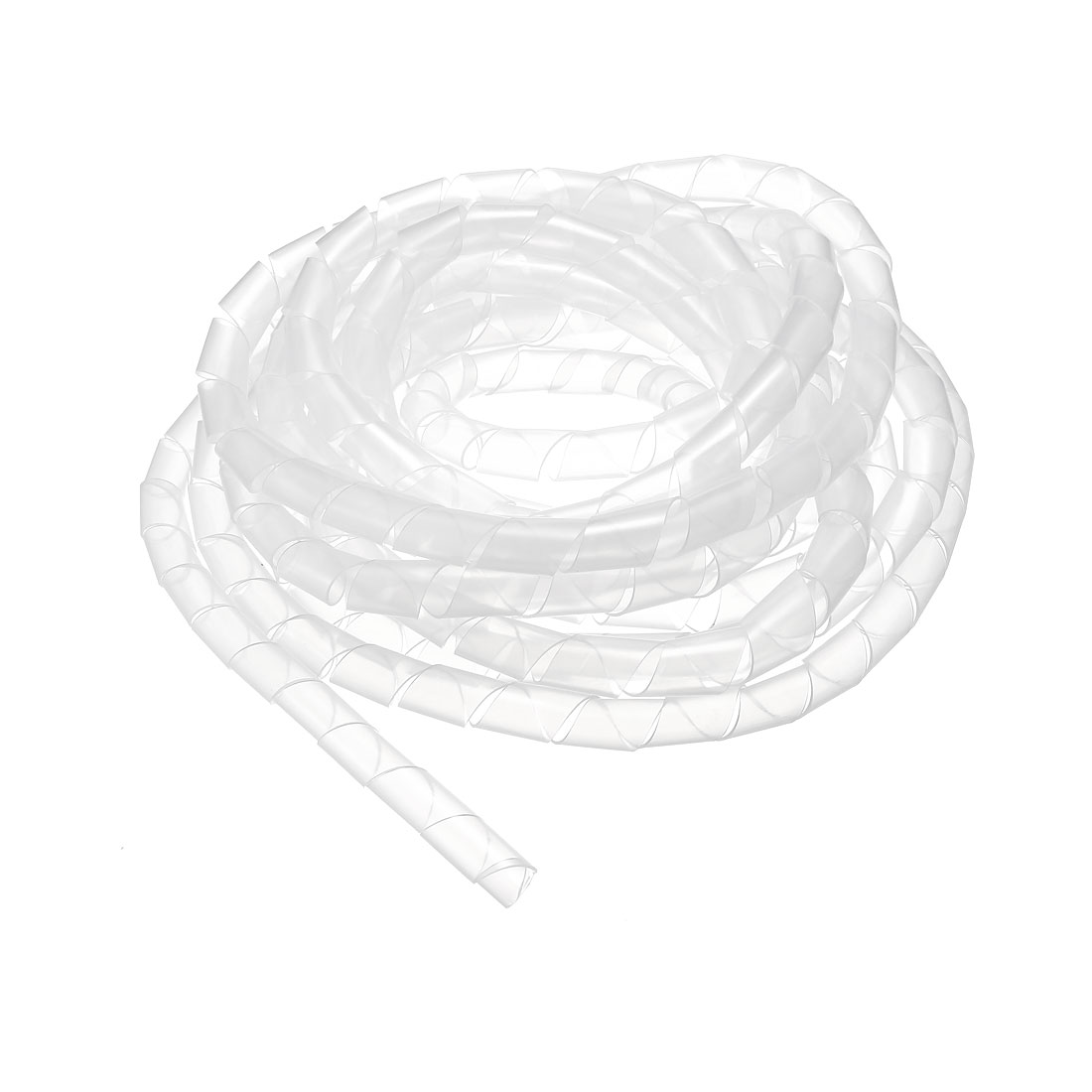13mm Flexible Spiral Tube Cable Wire Wrap Computer Manage Cord 5.5M Transparent