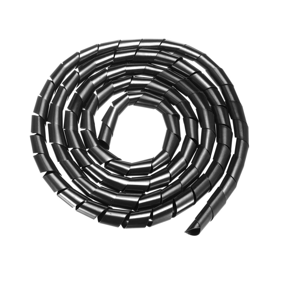 18mm Flexible Spiral Tube Cable Wire Wrap Computer Manage Cord 3Meter Black
